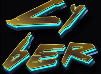 Cyberpunk 3д надпись конструктор текста с эффектом Киберпанк