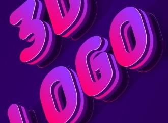 Сделать 3D топовое лого красивым шрифтом