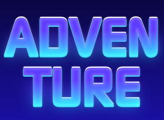 Adventure надпись конструктор текста для шапки и оформления youtube twitch канала с эффектом неона