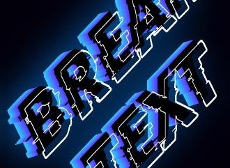 Создать логотип с break стилем
