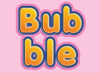 Красивый шрифт с эффектом пузырей надпись конструктор текста с эффектом bubble