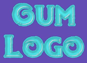 Сделать bubblegum текст в стиле жвачки