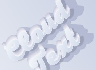 Шрифт онлайн в стиле cloud