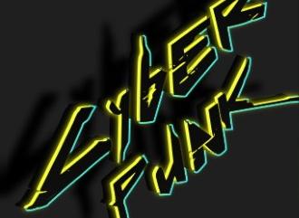 Киберпанк шрифт с неоновым эффектом