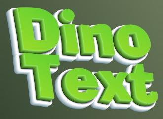 Крутая надпись объемный Дино текст создать онлайн