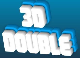 3D конструктор надписей с эффектом двойного объема