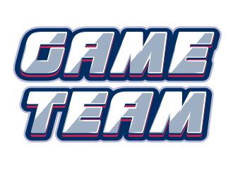 Шрифтовой логотипи в спортивном игровом стиле команды