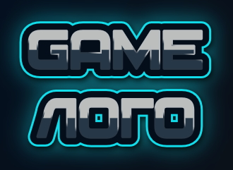 Бесплатно сделать игровой логотип из геймерского шрифта с эффектам