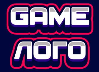 Красивый игровой логотип из топовых шрифтов создать онлайн игровое лого
