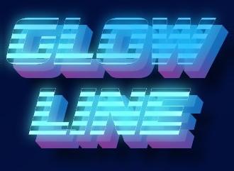 Сделать 3D текстовое лого в красивом современном стиле светящихся линий
