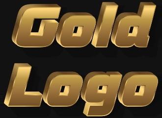 Красивый золотой шрифт HD стиле