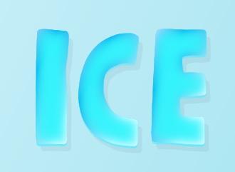 Сделать ледяную красивую надпись