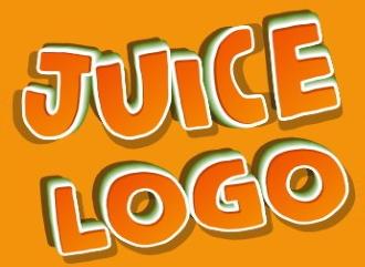 Создать яркую сочную надпись с эффектом juice