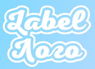 Создать лейбл логотип в стиле бирки стикера онлайн красивым шрифтом