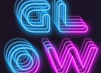 Сделать 3D текстовое светящееся лого красивым шрифтом