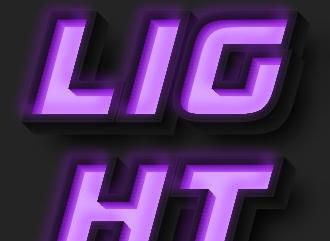 Шрифт с эффектом неонового светящегося короба