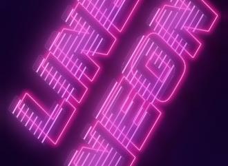 Добавить шрифту яркий неоновый эффект в стиле светящихся неоновых линий