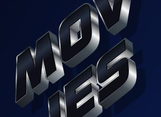 Сделать 3D лого красивым шрифтом в стиле MOVIES
