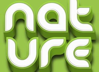 Красивый nature шрифт HD стиле