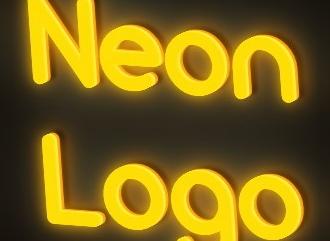 Красивый шрифт неоновом HD стиле
