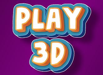 3Д надпись в стиле объёмного игрового лого