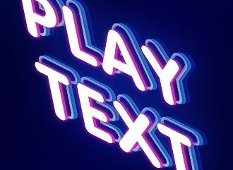 Шрифт с эффектом game play надписи