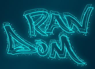 Сделать неоновый логотип в стиле светящихся частиц