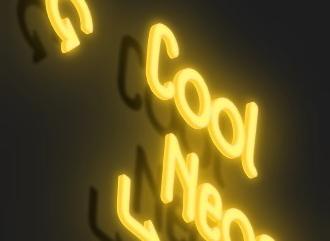 Сделать 3D светящееся неоновое текстовое лого красивым шрифтом