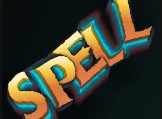 Шрифт с эффектом заклинание магической надписи
