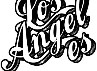 Надпись в стиле тату с графичным стикер эффектом