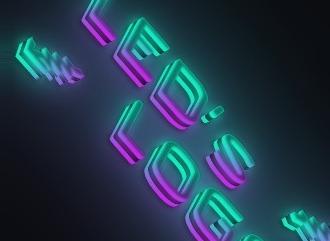 Генератор 3D светящейся надписи, текста из красивых шрифтов с LEDs эффектом