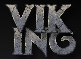 Красивая в стиле викингов каменная надпись с объемным эффектом тени